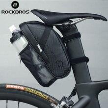 ROCKBROS rowerowa torba pod siodełko z kieszeń na butelkę z wodą wodoodporny rower górski tylne torby siedzenie na bagażnik rowerowy torba na bagażnik akcesoria rowerowe