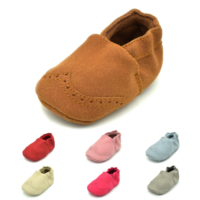 BOBORA Baby Moccasins Infant Newborn Suede Pu Leather Shoes Kids Girls Boys Prewalker Anti-slip Soft Sole Shoes First Walkers