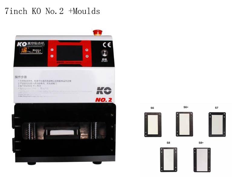 KO No 2 OCA Machine À Plastifier Sous Vide pour iPhone Samsung Bord Courbe Écran Tactile Verre Brisé Réparation Avec S6 S6 + S7 S8 S8 + Moules