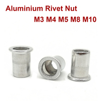 M3 F Fityle 1pc Metric Hand Nut Rivet Replacement Tip Accessories M3////M5//M6//M8 Black