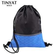 Женский и мужской рюкзак tinyat черный водонепроницаемый спортивный