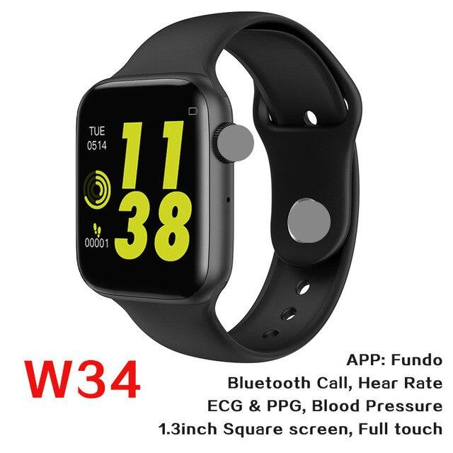 W34 Bluetooth Call Dial Answer Watch Smart Watch Band Heart Rate Monitor Fitness Tracker Wearing Wristband Bracelet PK IWO 9 10