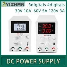Fuente de alimentación CC de 30V y 10A, fuente de alimentación ajustable, reguladores de voltaje LongWei, K3010D, 110V/220V, 60V5A, 120V3A