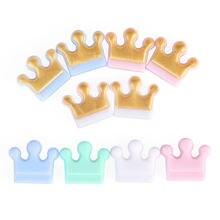 Chenkai – Mini anneau de Dentition en Silicone sans BPA, 100 pièces, perles de qualité alimentaire, DIY, bijoux, jouet, cadeau pour bébé