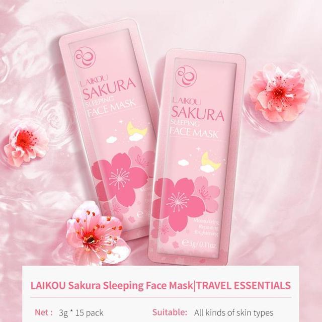 15Pcs Sleeping Mask Hydrating Moisturizing No-Wash Sakura Face Masks Acne Removal Skin Care Soothing Face Korean Mask 1