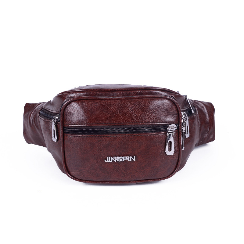 PU Leather New Style Men And Women Chest Pack Outdoor Riding Cool Wallet Multi-functional Bag Mobile Phone Storage Wallet