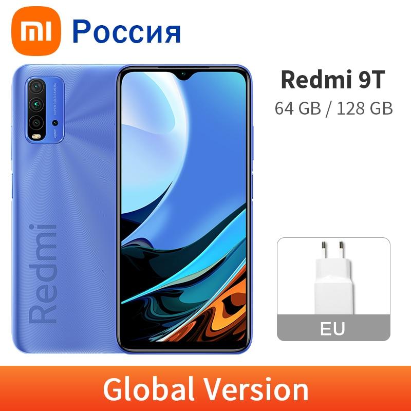 Xiaomi Redmi 9 T 4 Гб 128 ГБ/64 Гб глобальная версия 9 T Мобильный телефон 6000 мАч батарея Snapdragon 662 Octa Core 6,53