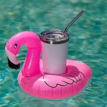 Mini Flamingo içecek bardağı standı tutucu Donuts şekil şişme su yüzme havuzu İçecek Bar bardak yaratıcı şamandıra parti oyuncak