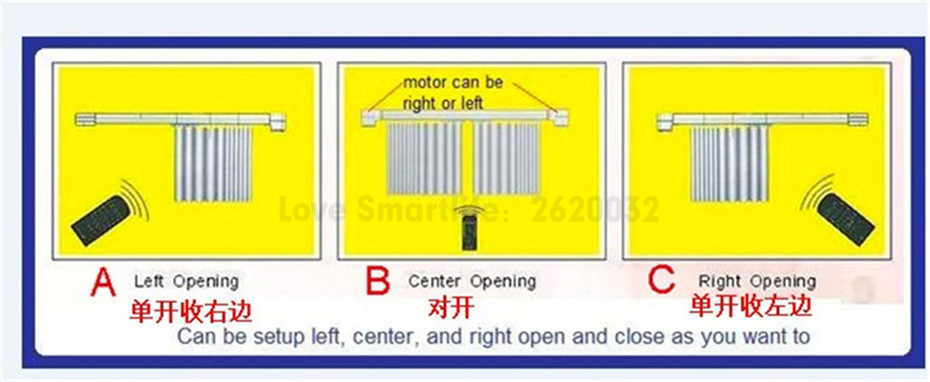Customize Super Quiet Electric Curtain Track for Aqara Aqara B1 Motor Dooya KT82 DT82 Motor,Smart Curtain Rails System,To Russia-2