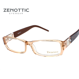 Image 2 - ZENOTTIC 2020 Acetate Eyeglasses Frame For Women Optical Glasses Full Frame Spectacle Oculos De Grau Prescription Myopia Eyewear