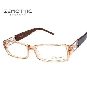 Image 2 - ZENOTTIC 2020 Acetateกรอบแว่นตาผู้หญิงแว่นตากรอบแว่นตาOculos De GRAU Prescriptionสายตาสั้นแว่นตา