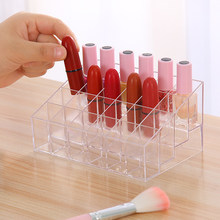 24 Grid Acryl Make Up Opslag Houder Make Organizer Opbergdoos Cosmetische Box Lipstick Sieraden Box Case Holder Display Stand(China)