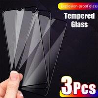 Protector de pantalla de cristal templado para Xiaomi, Protector de pantalla de vidrio templado para Xiaomi Mi 10 Lite, Mi 9, A3, A2, A1, 9D, 3 piezas, Mi 10 T Pro, 10 T, 9T