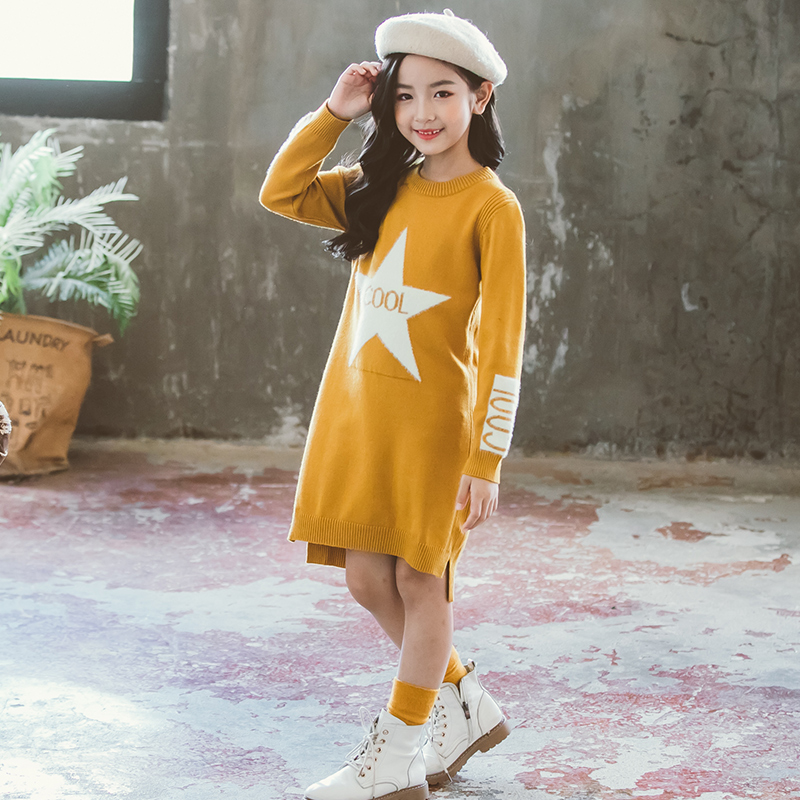 Girl Dress Sweaters Autumn Fall Winter Soft Warm Baby Clothes Top Outfits Teenagers Knitwear 5