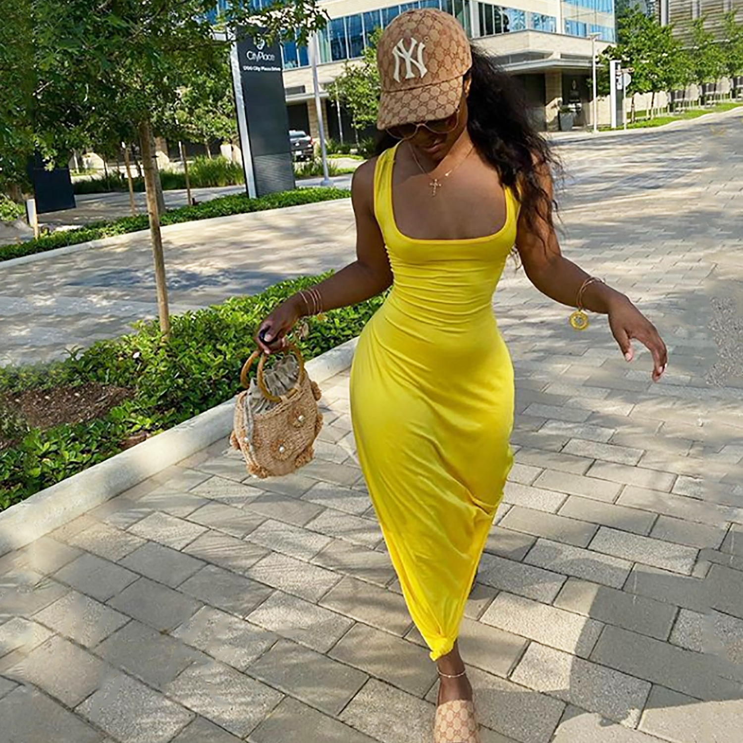 ANJAMANOR Sexy Hollow Out Backless Maxi Dress Womens Clothes Sleeveless Long Summer Dresses for Women Casual Vestidos D42-CC29 10