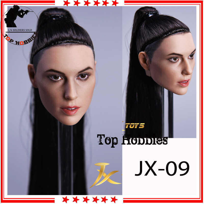 """1//6 Scale Head Sculpt Carved Model JX-09 for 12/"""" Female Body Action Figures"""
