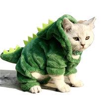 Pet kedi giyim yavru köpek kedi komik dinozor kostüm kış sıcak peluş kedi Coat polar Hoodies kazak küçük köpek yavru giyim