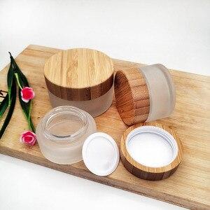 Image 4 - Frasco vacío de crema de vidrio esmerilado, tapa de bambú ecológica, para el cuidado de la piel, 30g, 50g, 100g