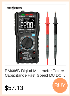 H60a1ab89e5b043e9bbf94f761fd605b5T RICHMETERS RM113D NCV Digital Multimeter 6000 counts Auto Ranging AC/DC voltage meter Flash light Back light Large Screen 113A/D