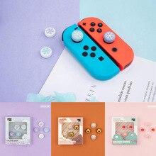 Śliczne Snowflake dziewczyna śnieg kwiat uchwyt na kciuki Cap Joystick pokrywa dla przełącznik do nintendo NS Lite NS JoyCon kontroler Gamepad Case