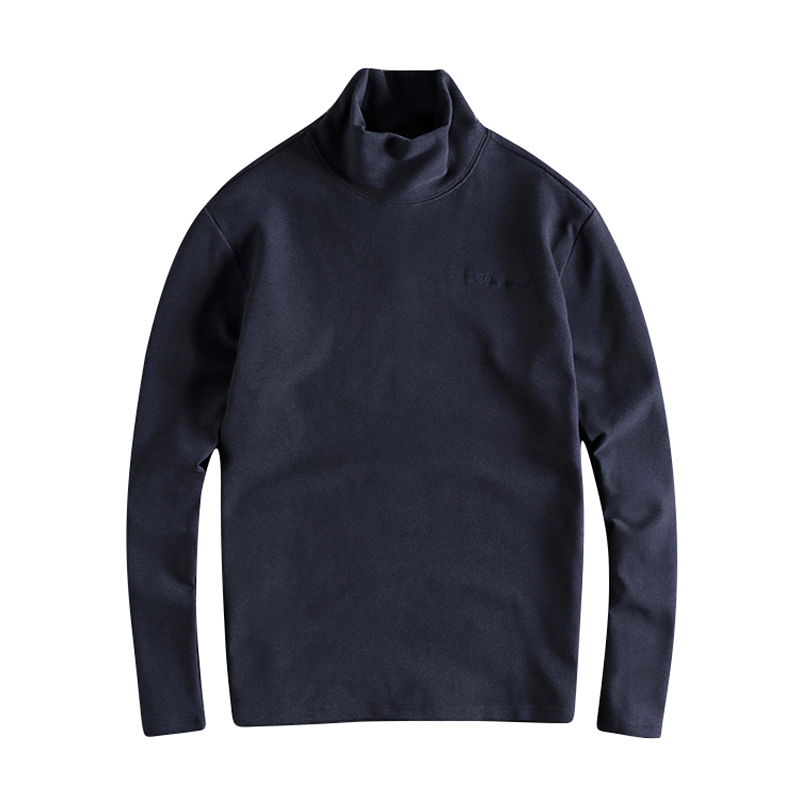 2020 Autumn Winter New Turtleneck Warm Youth Hoodies Sweater Simple Embroidery European and American Men's Sweater Long Sleeves 5