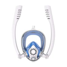 Маска для плавания с двойной дыхательной трубкой для всего лица под водой, маска для подводного плавания, анти-туман, анти-утечка, маска для подводного плавания