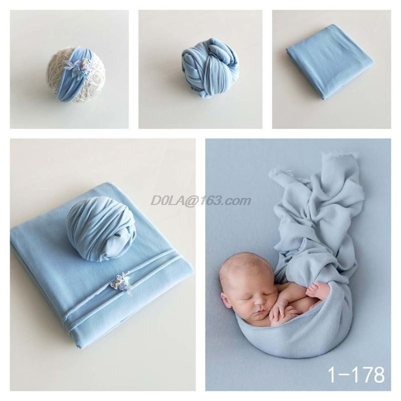 2 Pcs Infant Baby Wrap Clothing Hat Outfits Photography Props Photo Accessories