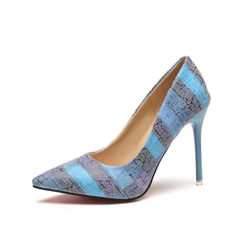 2019 bombas femininas sapatos de casamento festa super salto alto apontou toe zapatos mujer chaussure femme talon marca senhoras sapatos 2019