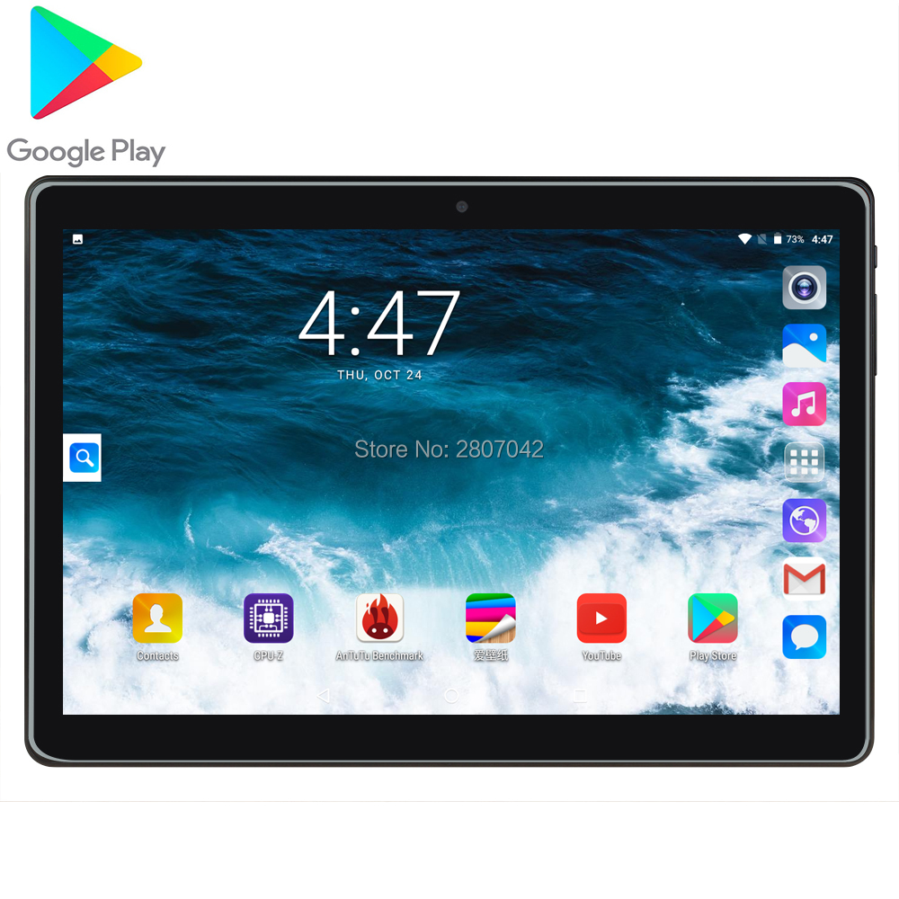 2020 Version 10 Inch Tablet Android 7.0 Quad Core 32GB ROM 8MP 1280*800 IPS 2.5D Glass Screen GPS Tablets 10.1 Gifts