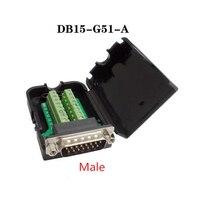 5PCS DB15 D SUB Male 2 Row 15 Pin Plug Breakout Terminals Bo
