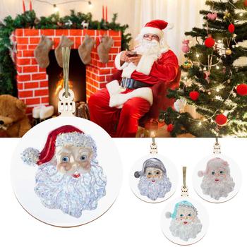 Hiny ozdoby świąteczne ozdoby świąteczne ozdoby do dekoracji wzorem świętego mikołaja ozdoby świąteczne 2020 boże narodzenie TSLM1 tanie i dobre opinie CN (pochodzenie) Christmas Decoration Bez pudełka Santa Clause Christmas Ornaments Wood 6 9*8 9cm 2 76*3 54in Dropshipping Wholesale