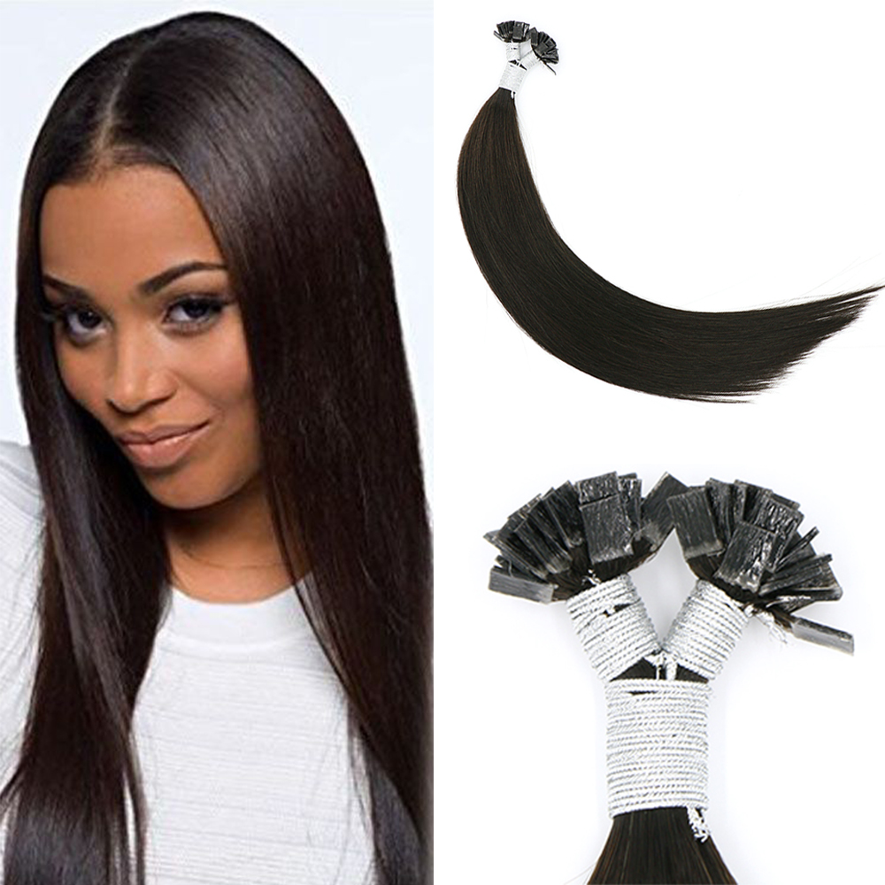 2019 Latest Design Toysww European Flat Tip Hair Extensions Human Hair Machine Remy Hair 14-24inch Natural Straight Pre Bonded Hair Extension Firm In Structure
