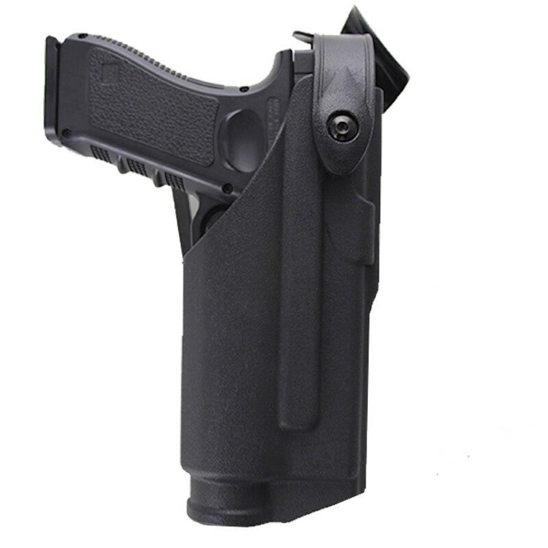 Coldre tático Para Glock 17 19 22 23 31 32 Tendo Caso Lanterna Caça Combate Airsoft Pistola Glock Cinto da cintura para Plataforma