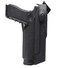 Тактическая кобура для Glock 17 19 22 23 31 32, чехол для страйкбольного пистолета, боевой чехол для пистолета Glock с фонариком, подшипником и поясной п...