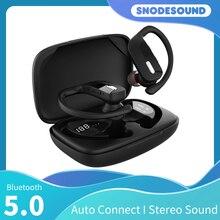 Snodesound Sport Headphone True Wireless Bluetooth 5.0 Earphone Stereo Waterproof Earplugs Bass TWS Ear Hook Earbuds For Phones