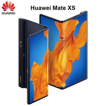 Перейти на Алиэкспресс и купить Оригинальный мобильный телефон Huawei Mate Xs, мобильный телефон, экран в сложенном виде, 8 ГБ + 512 ГБ, Kirin 990, SoC, Android 10, Android 10, суперзарядка 55 Вт