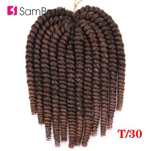 SAMBRAID 14 Inch Havana Mambo Twist Crochet Hair Crochet Braids Synthetic Hair Extension For Braids Ombre Braiding Hair Karachi