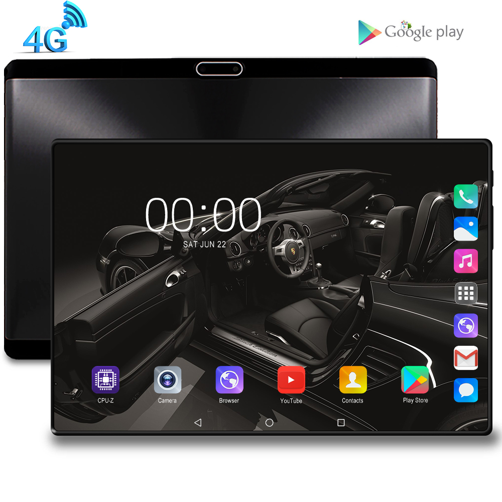 2020 New 10 inch Tablet PC Octa Core Android 9.0 WiFi Dual SIM Cards 4G LTE Phone Call Tablets 10.1 8GB RAM 128GB ROM FM GPS