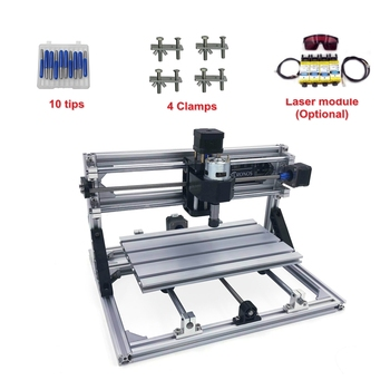 DIY Mini CNC 2418 500MW 2500MW 5500MW Laser Engraving Machine PCB Milling for Woodworking
