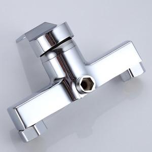 Image 5 - 1 pc お風呂シャワーの蛇口コールドとホット水耐久性のある亜鉛合金ウォールマウント水制御バルブ混合弁浴室蛇口