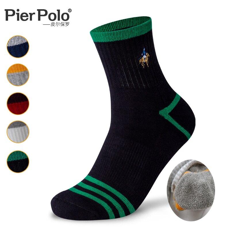 2019 бренд PIER POLO Толстые мужские шерстяные носки хлопок полотенце теплые носки для зимы мужские толстые теплые зимние носки бархат Шелковый
