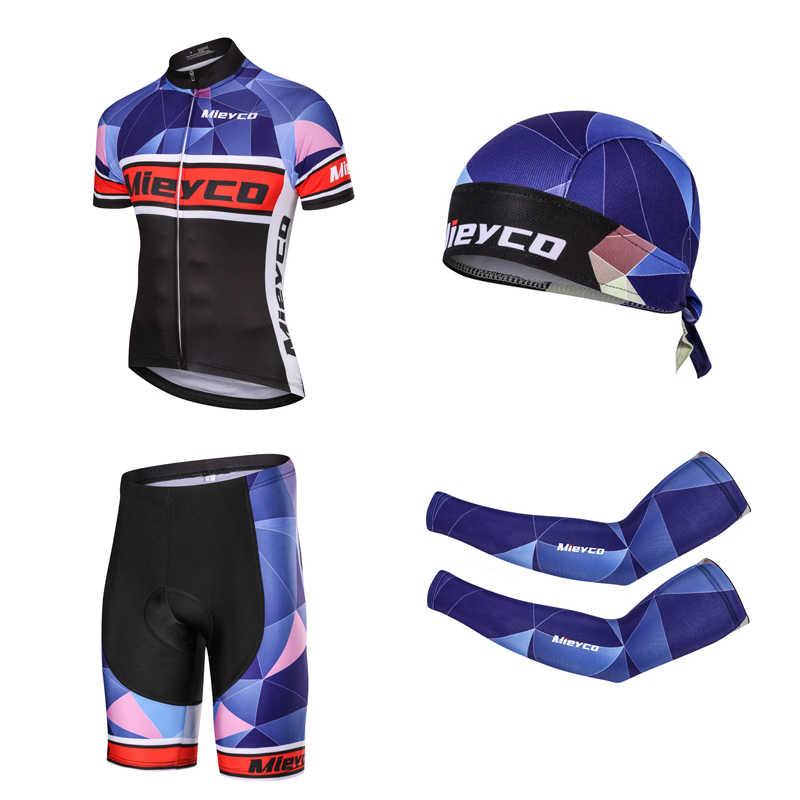 프로 팀 사이클링 의류 남자 짧은 소매 자전거 저지 세트 스포츠 MTB 착용 빠른 건조 망 도로 자전거 의류 남성 승마