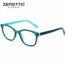 ZENOTTIC Pink Acetate Glasses Frame Girls Myopia Optical Spectacles Frames Child Cute Transparent Fashion Eyeglasses 2019
