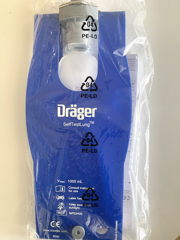 For Drager Self-Test Lung, Latex-free, Reusable,MP02400 Draeger Self-Test Lung, Autoclavable Test Lung