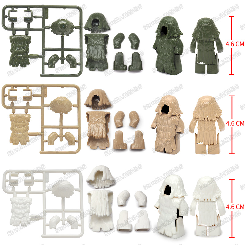 Legoinglys Military Figures Camouflage Suit Building Blocks Army Snow Desert Jungle Special Forces Equipments Moc Christmas Toys