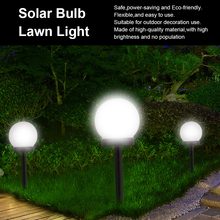 IP65 LED Solar Garden Ball Light Solar Powered Lawn Lamp Pathway Landscape Lamp with Light Sensor for Outdoor Yard Path Decor intelligent remote control 20 rgb 5050led solar powered waterproof ip65 outdoor landscape garden yard path lawn solar lamp light
