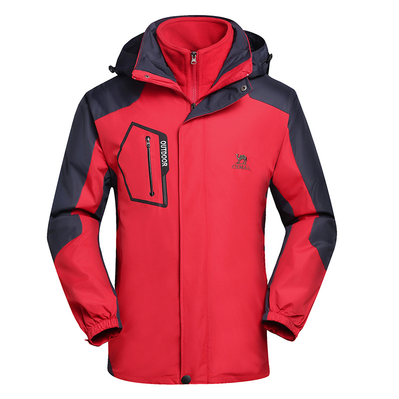 Spring, Autumn And Winter Men And Women-Three-in-One Deconstructable Raincoat Jacket Outdoor Windproof Warm Raincoat Jacket MEN'