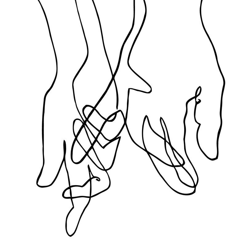 恋人の手線画に触発ピカソ現代ポスター印刷ミニマリスト顔アートワークスケッチキャンバス絵画ベッドルームの装飾|Painting &  Calligraphy| - AliExpress