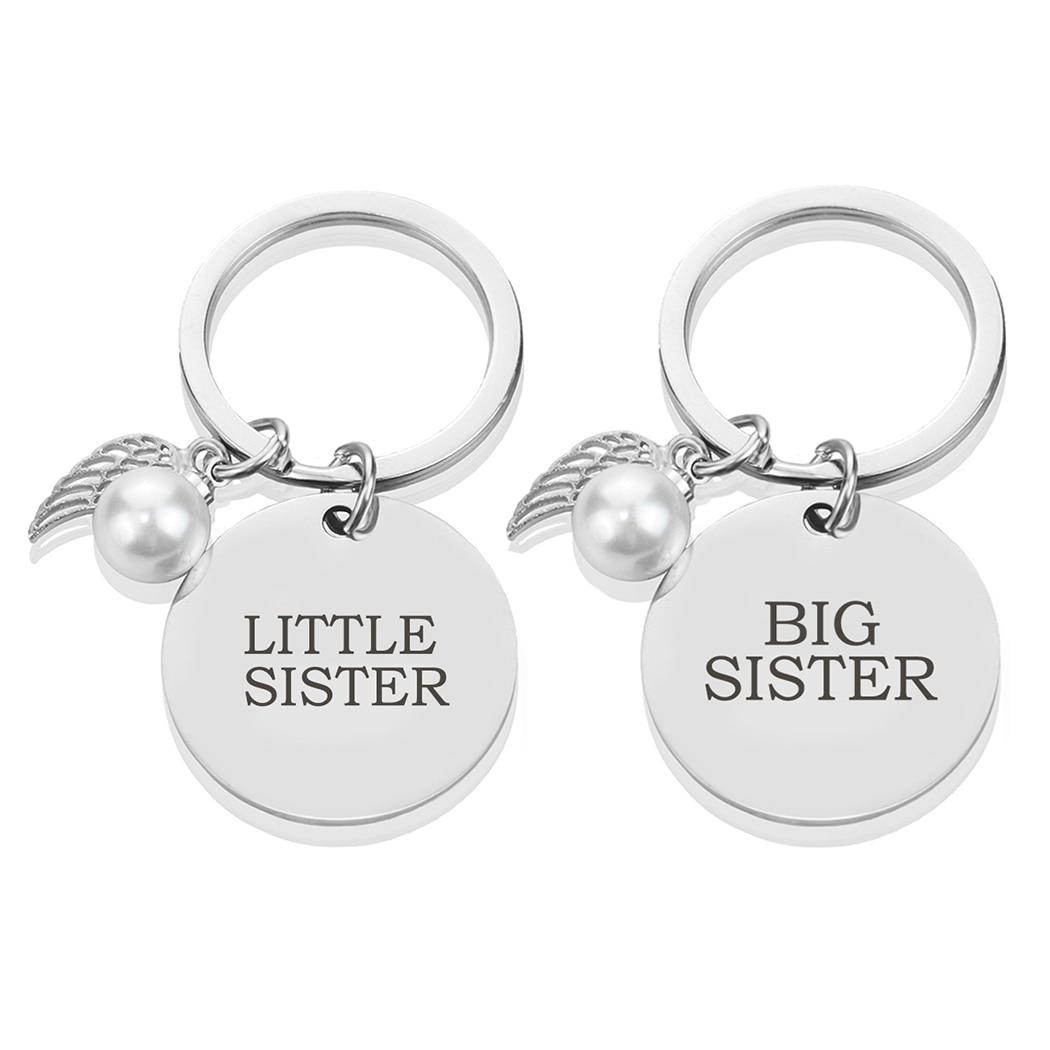 Большая сестра, маленькая сестра, брелок, женская сумка, подвеска, брелок, автомобильный брелок, украшения для сестер, подарок на день рожден...