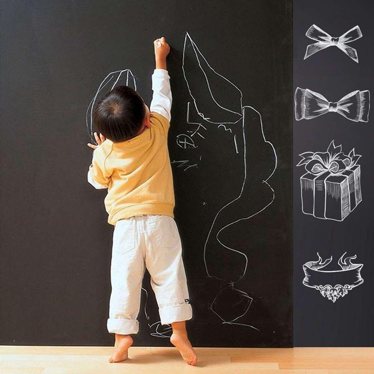 45/60x200cm Kids Blackboard Removable Wall Sticker Chalkboard Decal Children Blackboard Chalkboard Sticker Label For Boy Girls